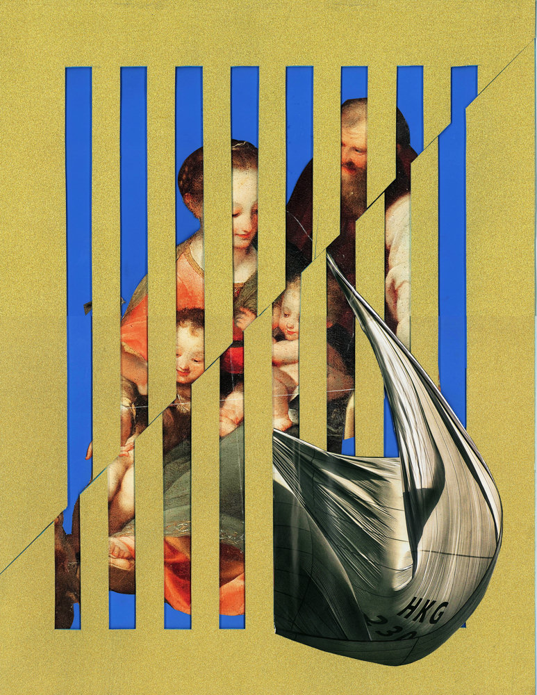FAF_Golden Cages_Family_2016_paper collage, glitter_cm 51x39