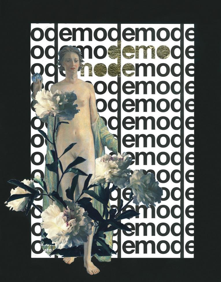 FAF Demode 2016 paper collage golden leaf fletwork cm275x36 1